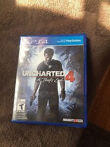 Uncharted 4 PS4 mint condition