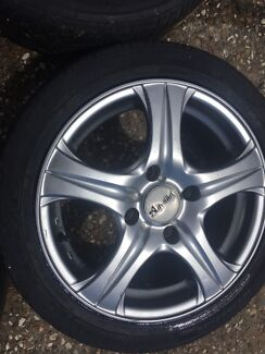 """Advanti Racing"" wheels, 4x100 stud pattern, 15"" rim. Morayfield Caboolture Area Preview"
