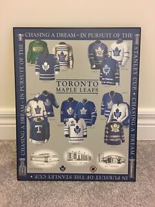 TORONTO MAPLE LEAFS history wall plaque