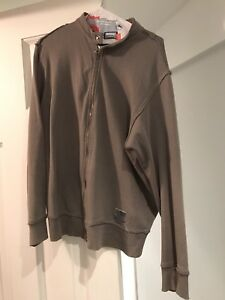 Diesel men sweater XL hoodie chandail à capuchon gris grey