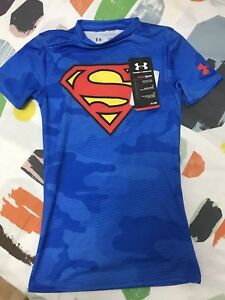 Brand new under armour heat gear superman top for youth