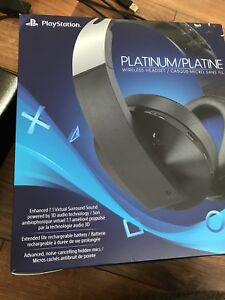 Playstation headset Platinum/platine the new headset of ps4