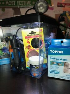 BETTA FISH TANK AND ACCESSORIES