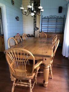 Canadian Made Solid Wood Table and chairs