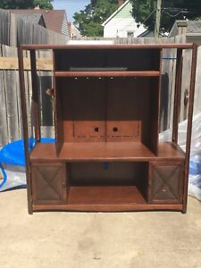 Cherry wood entertainment stand