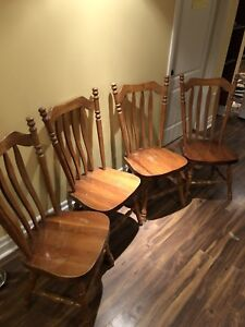Solid Pine Mennonite dining chairs
