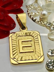 New! Gold coloured Initials letter E pendant charm