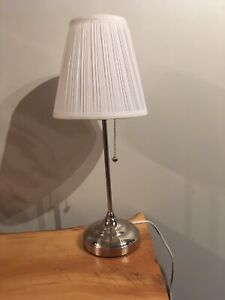 White lamp with shade