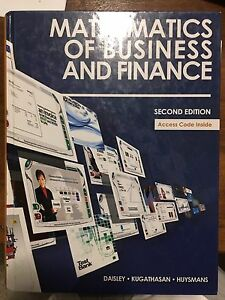 Mathematics of business and finance