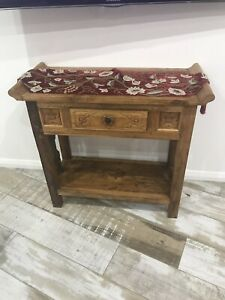 Wooden crafted console