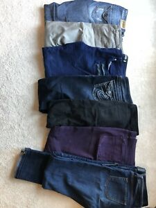 Jeans skirts and work pants (M 8-10) Will sell individually.