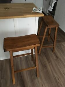 Two wooden stools!