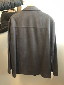 Leather suede men's jackets