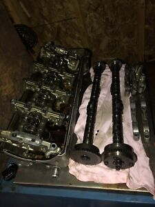 Engine parts and grill