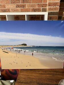 Nobbys beach photo canvas