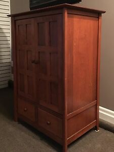 Canadel Solid Birch TV Armoire/Cabinet