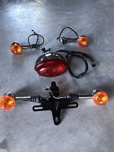 Triumph Bonneville Parts (lights, mirrors, handlebar & seat)
