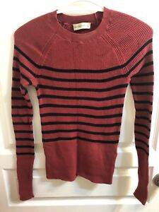 Abercrombie&Fitch red skinny stripe sweater