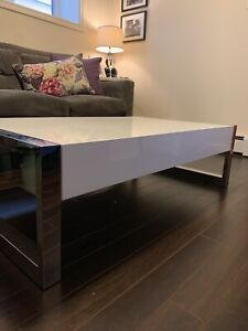 Modern coffee table with storage drawers