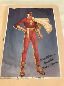 CAPTAIN MARVEL FAN PHOTO 1940's COMICS
