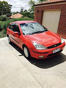 Red Ford Focus 2002 CL Auto 5 Door Hatchback Rosanna Banyule Area Preview