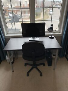 Desk + Rolling Chair