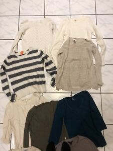 $1 Each! Bag of 15 Size Small Sweaters / Long Sleeve Tops