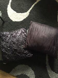 Purple satin pillows