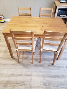 IKEA wooden table + 4 chairs