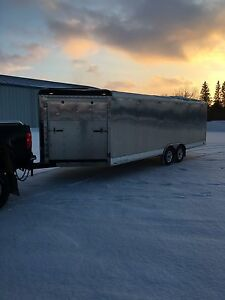 Enclosed snowmobile/cargo trailer