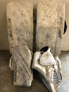 Goalie gear - pads (30+1), blocker, and trapper