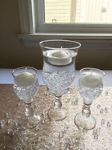 Glass Candle Holders, Flameless Tealights, Vase