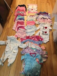 Girls Baby clothing lot. 0-3 months and 3 months.