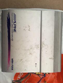 Alpine 4 Channel Drive Power Amplifier Mrh-f254 Sub Amp Fast