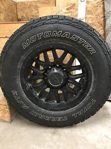 "Ram 3500 - 18"" Winter Tires on Rims - 8 lug"