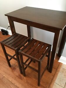 High top table with stools
