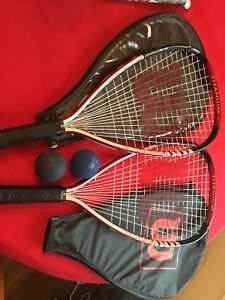 Two racquetball rackets
