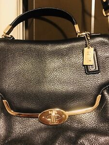 Authentic Leather Coach Sling Bag