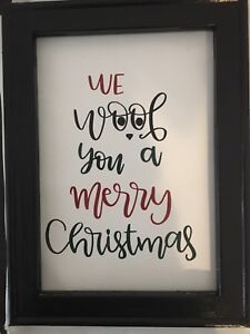 We woof you a merry Christmas sign 9x12