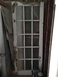 Solid wood French door