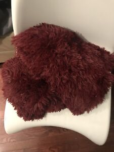 Brand New no tags burgundy Red blanket throw