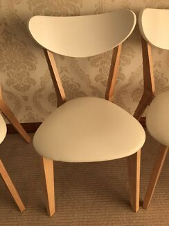 ToToWhite Chairs Leather Wood Malaysia Dining