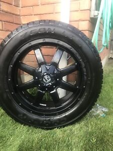 Fuel Frontier 20x9 rims with Cooper Zeon LTZ tires l