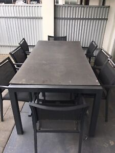Outdoor Dinning Table 8 Chairs