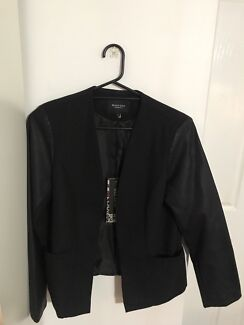 BRAVE SOUL blazer with pleather arms size L
