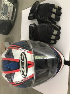 Motorbike helmet and gloves Geelong Geelong City Preview