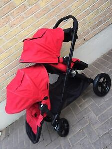 Excellent condition black frame double city select stroller