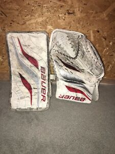 Bauer Goalie Catcher and Blocker