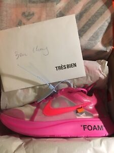 Zoom fly off white Pink Tulip size 11.5 (fits like 10.5)