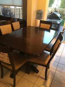 Dinning room table and 10  chairs